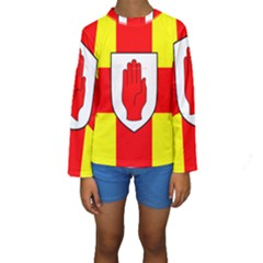 Flag of the Province of Ulster  Kids  Long Sleeve Swimwear