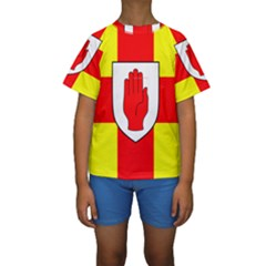 Flag of the Province of Ulster  Kids  Short Sleeve Swimwear