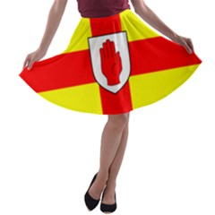 Flag of the Province of Ulster  A-line Skater Skirt