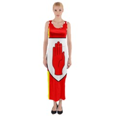 Flag of the Province of Ulster  Fitted Maxi Dress