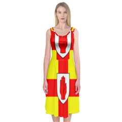 Flag of the Province of Ulster  Midi Sleeveless Dress