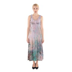 Cold Stone Abstract Sleeveless Maxi Dress