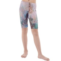 Cold Stone Abstract Kids  Mid Length Swim Shorts