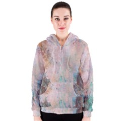 Cold Stone Abstract Women s Zipper Hoodie