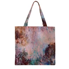 Cold Stone Abstract Zipper Grocery Tote Bag
