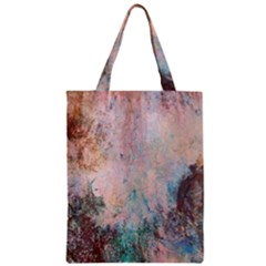 Cold Stone Abstract Zipper Classic Tote Bag