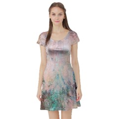 Cold Stone Abstract Short Sleeve Skater Dress