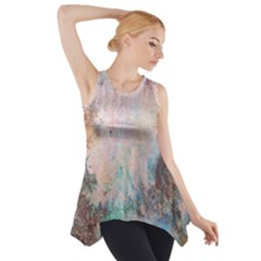Cold Stone Abstract Side Drop Tank Tunic