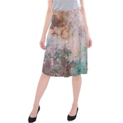 Cold Stone Abstract Midi Beach Skirt