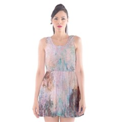 Cold Stone Abstract Scoop Neck Skater Dress