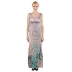 Cold Stone Abstract Maxi Thigh Split Dress