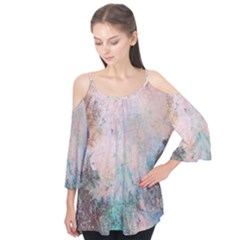 Cold Stone Abstract Flutter Tees