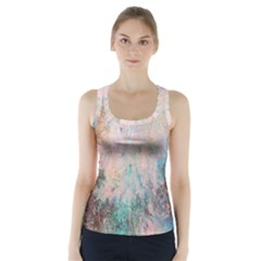 Cold Stone Abstract Racer Back Sports Top