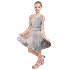 Cold Stone Abstract Kids  Short Sleeve Dress