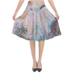 Cold Stone Abstract Flared Midi Skirt