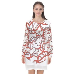 Twenty One Pilots Tear In My Heart Soysauce Remix Long Sleeve Chiffon Shift Dress