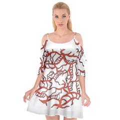 Twenty One Pilots Tear In My Heart Soysauce Remix Cutout Spaghetti Strap Chiffon Dress
