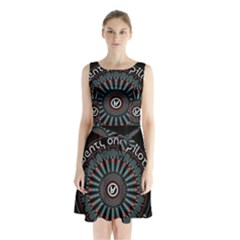 Twenty One Pilots Sleeveless Waist Tie Chiffon Dress