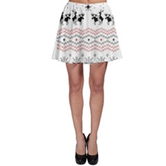 Ugly Christmas Humping Skater Skirt