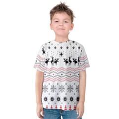 Ugly Christmas Humping Kids  Cotton Tee