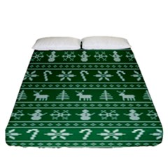 Ugly Christmas Fitted Sheet (california King Size)