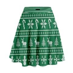 Ugly Christmas High Waist Skirt