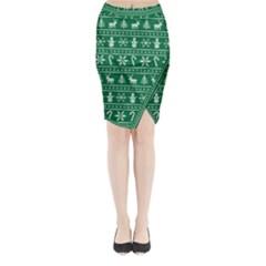 Ugly Christmas Midi Wrap Pencil Skirt