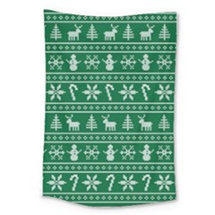 Ugly Christmas Large Tapestry
