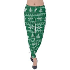 Ugly Christmas Velvet Leggings