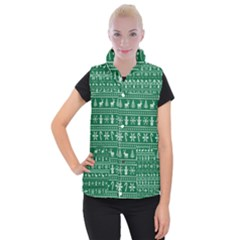 Ugly Christmas Women s Button Up Puffer Vest