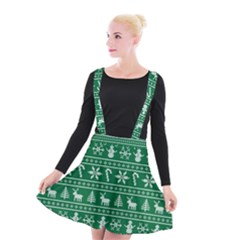 Ugly Christmas Suspender Skater Skirt