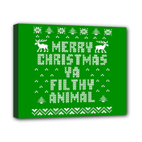 Ugly Christmas Sweater Canvas 10  x 8