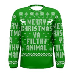 Ugly Christmas Sweater Men s Long Sleeve Tee