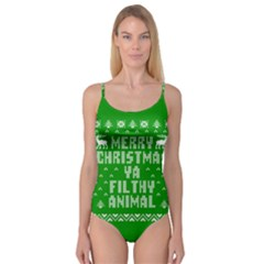 Ugly Christmas Sweater Camisole Leotard