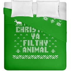 Ugly Christmas Sweater Duvet Cover Double Side (King Size)