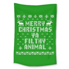 Ugly Christmas Sweater Large Tapestry