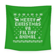 Ugly Christmas Sweater Square Tapestry (Large)
