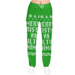 Ugly Christmas Sweater Drawstring Pants