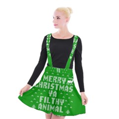 Ugly Christmas Sweater Suspender Skater Skirt