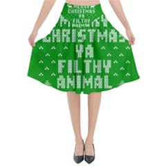 Ugly Christmas Sweater Flared Midi Skirt