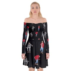 Drake Ugly Holiday Christmas Off Shoulder Skater Dress