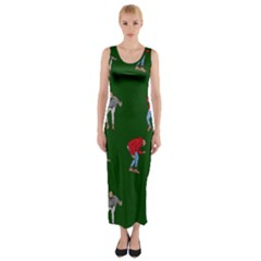 Drake Ugly Holiday Christmas Fitted Maxi Dress