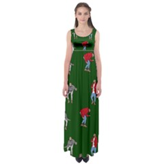 Drake Ugly Holiday Christmas Empire Waist Maxi Dress