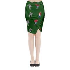 Drake Ugly Holiday Christmas Midi Wrap Pencil Skirt