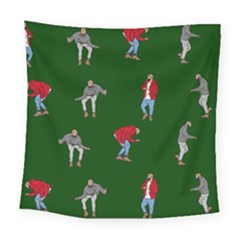 Drake Ugly Holiday Christmas Square Tapestry (large)