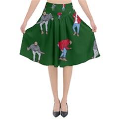 Drake Ugly Holiday Christmas Flared Midi Skirt
