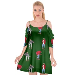 Drake Ugly Holiday Christmas Cutout Spaghetti Strap Chiffon Dress