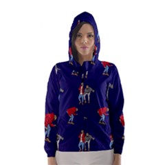 Drake Ugly Holiday Christmas Hooded Wind Breaker (Women)