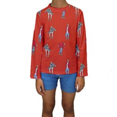 Drake Ugly Holiday Christmas Kids  Long Sleeve Swimwear