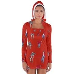 Drake Ugly Holiday Christmas Women s Long Sleeve Hooded T-shirt